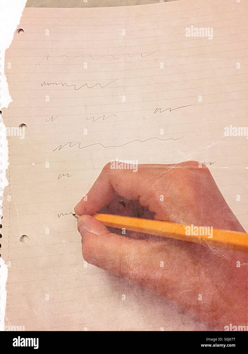 Writting a story - Stock Image