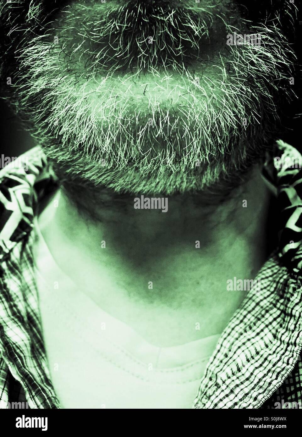 Hairy Chin - Stock Image