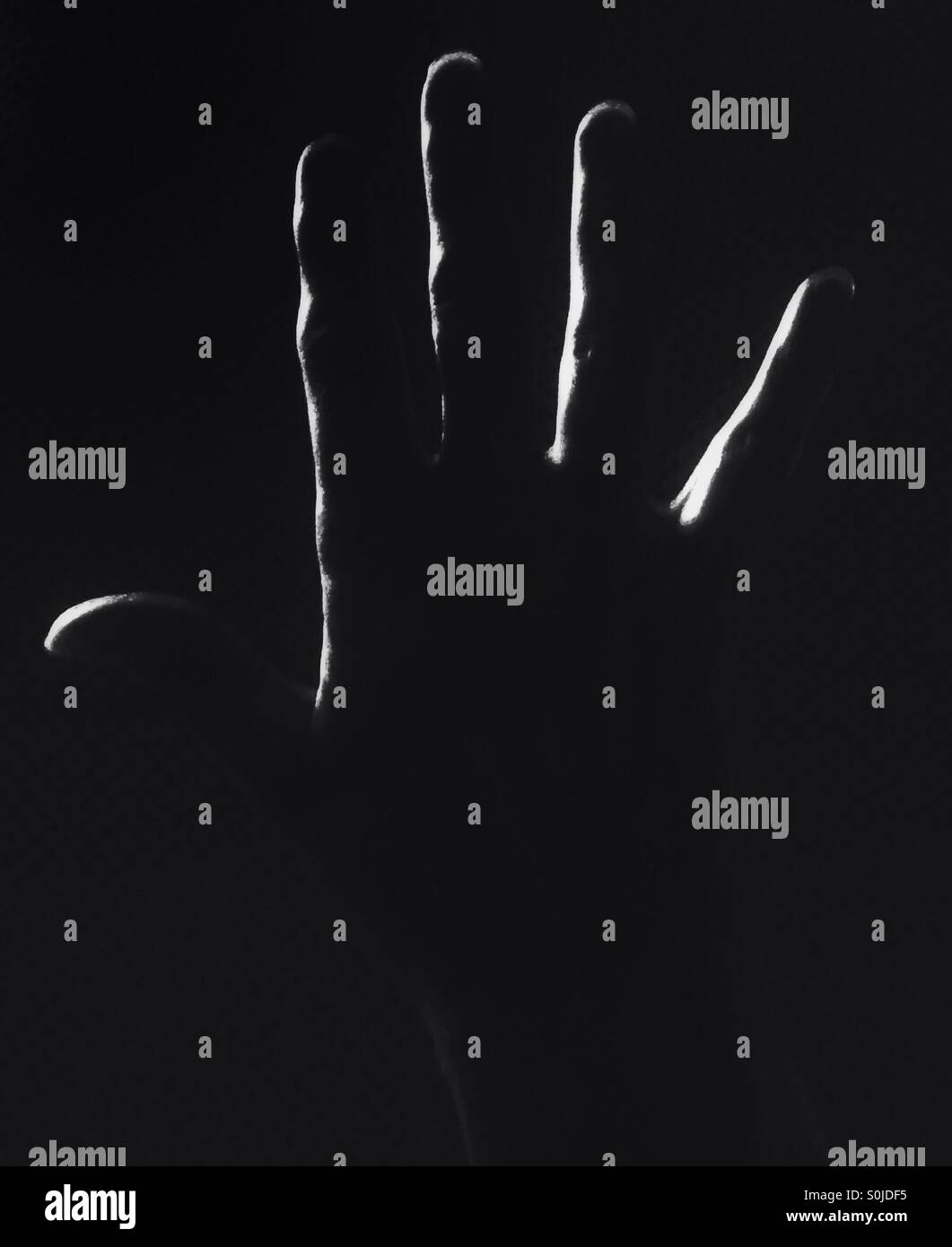An open hand. - Stock Image