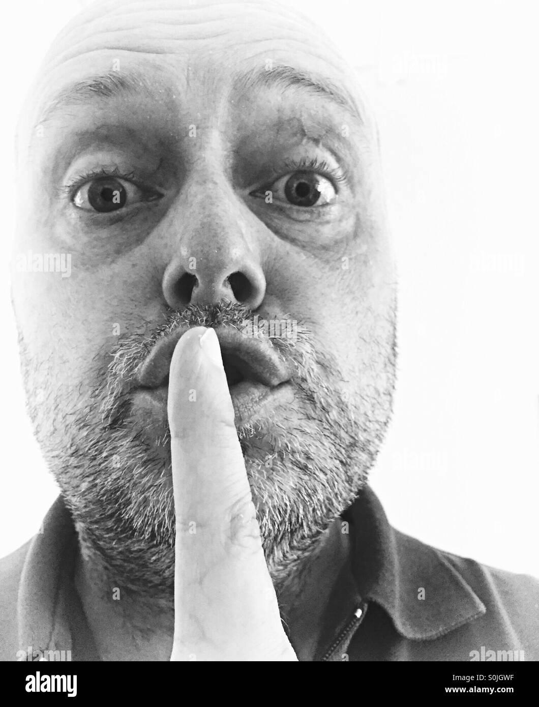 Hush! - Stock Image