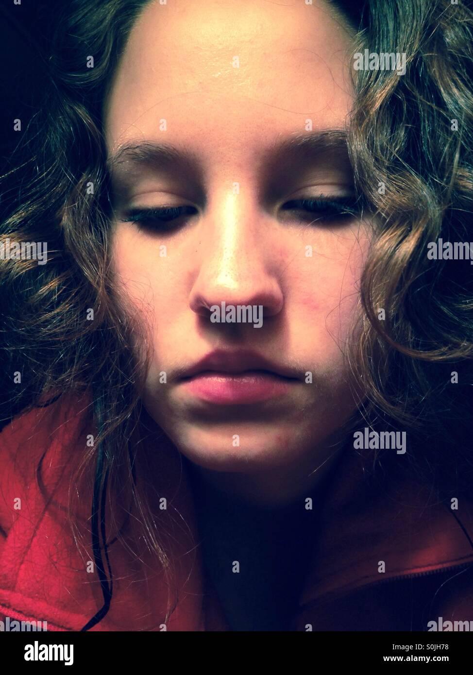 Passive girl - Stock Image