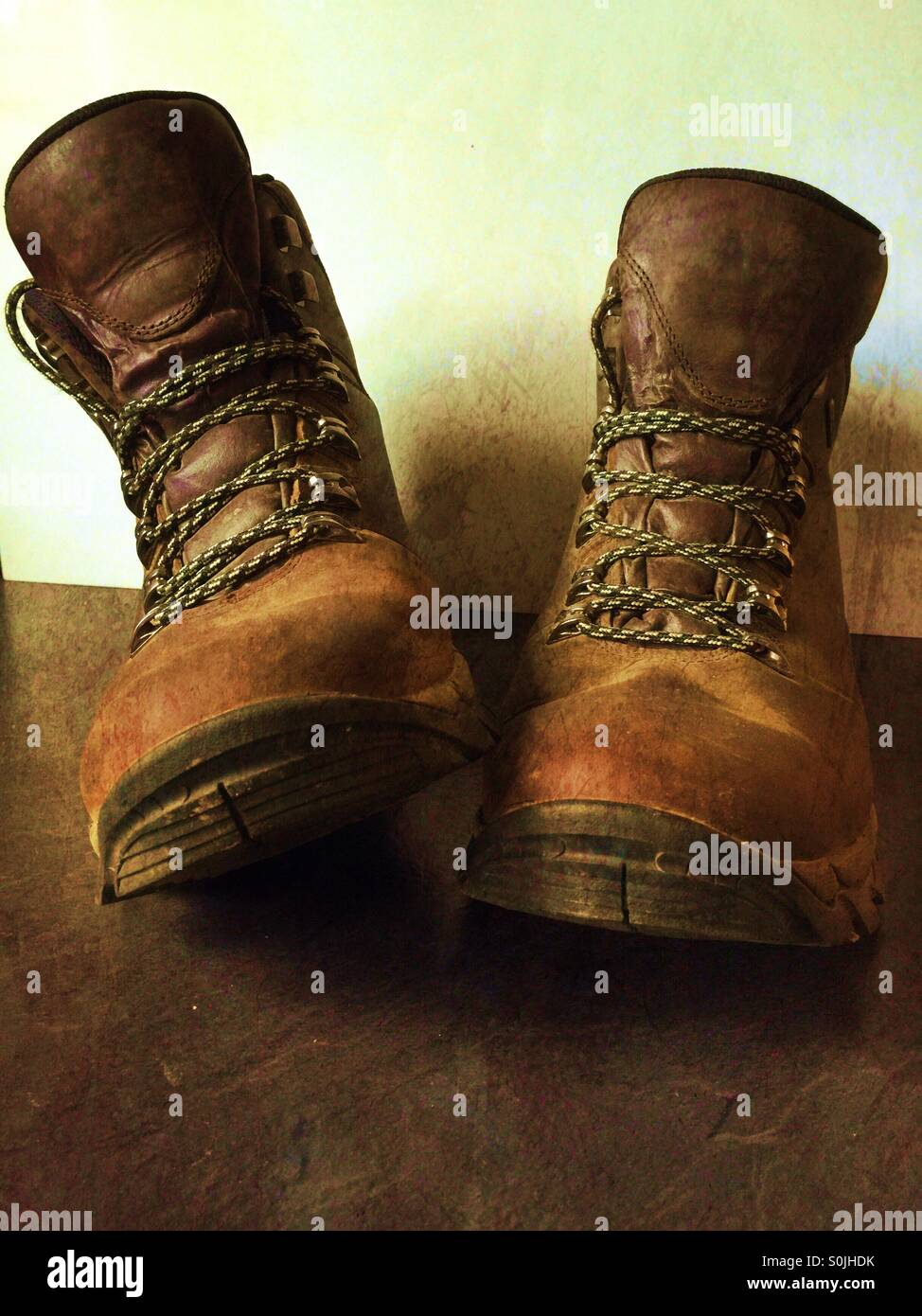 These boots are made for walking - Stock Image