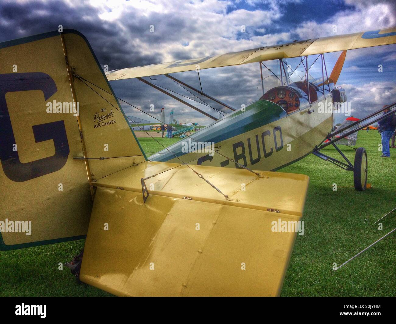Pietenpol Air Camper 1929 vintage aircraft at LAA Rally Sywell Aerodrome - Stock Image