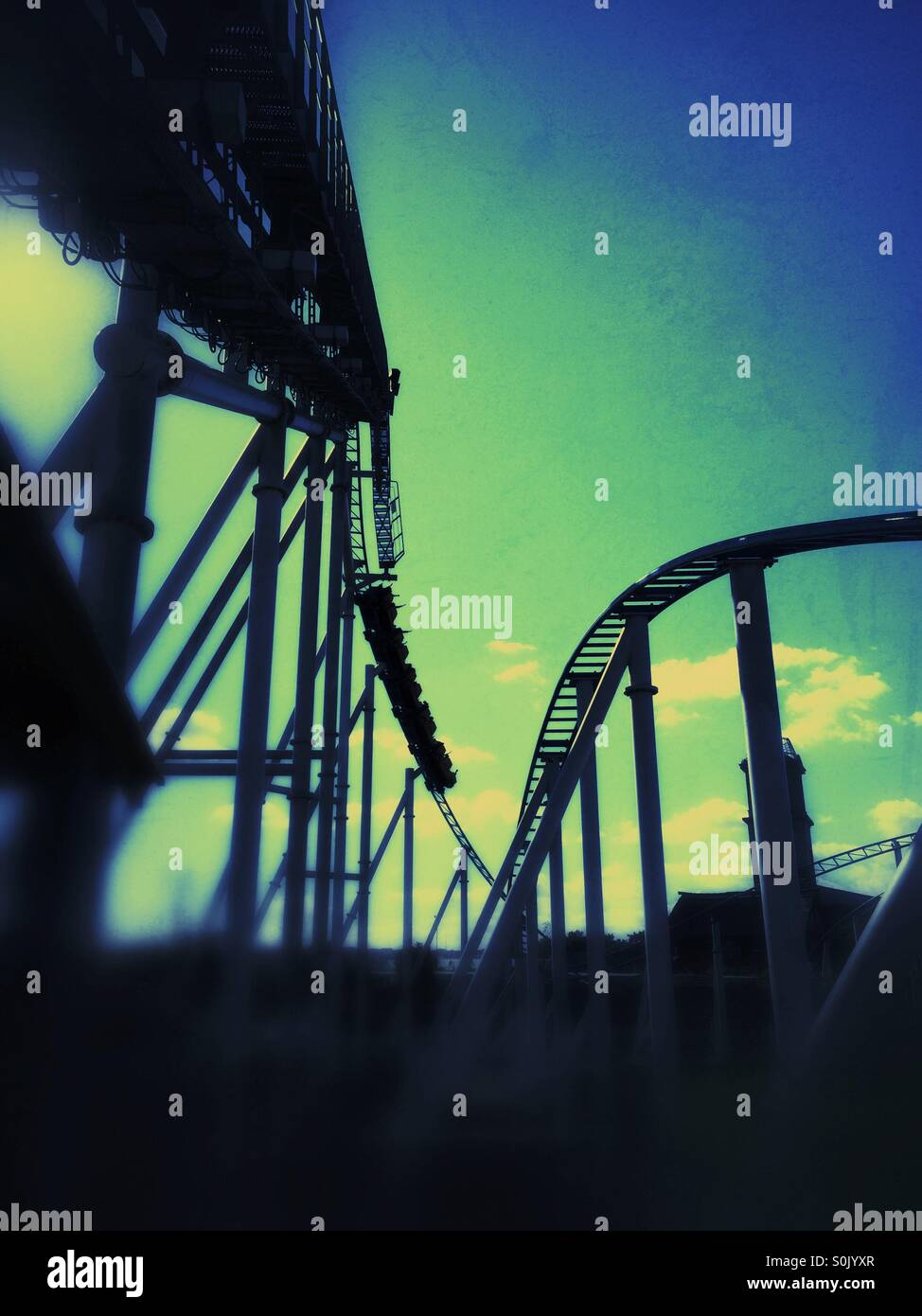 Roller coaster - Stock Image
