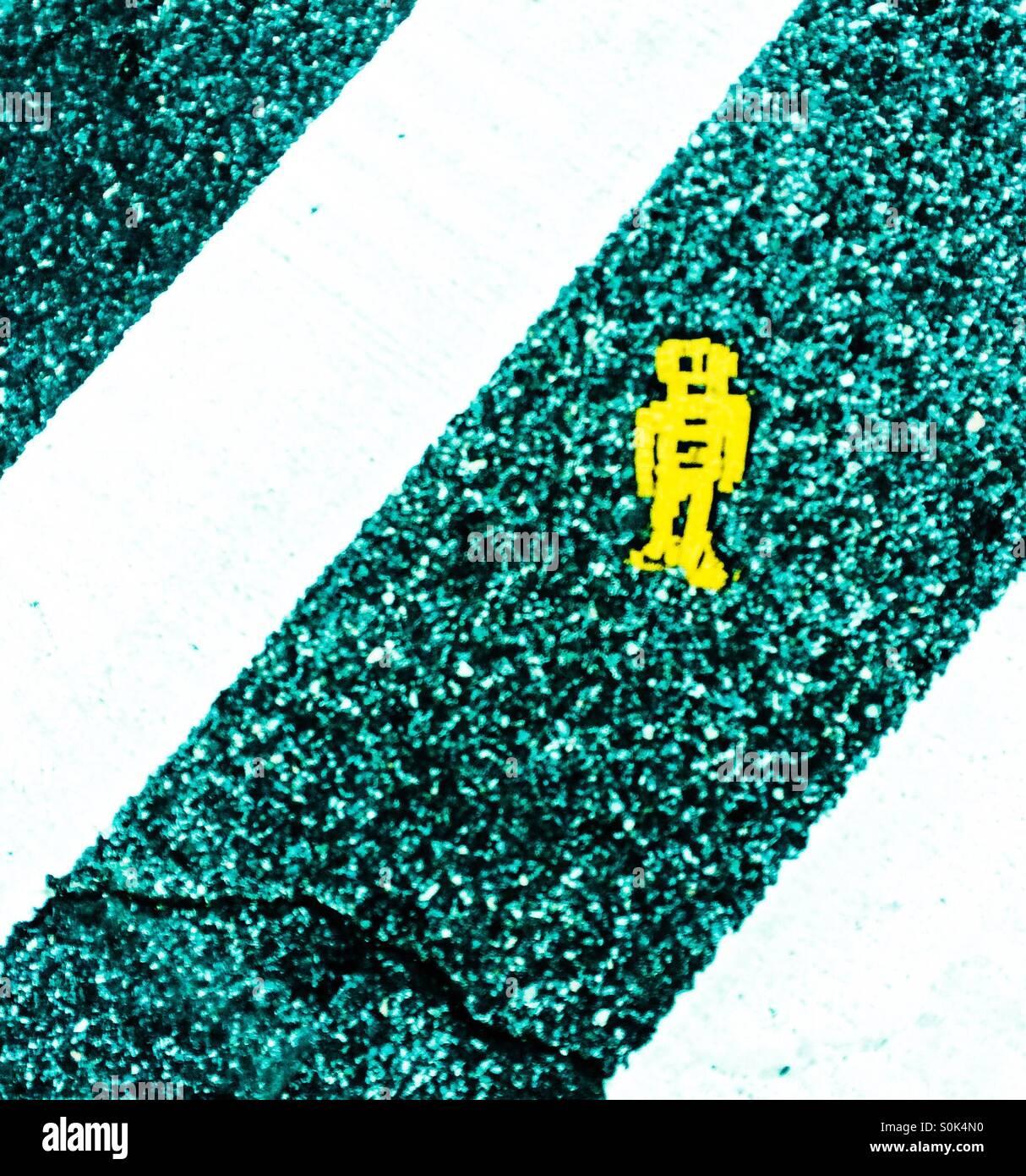An alien on the sreet - Stock Image