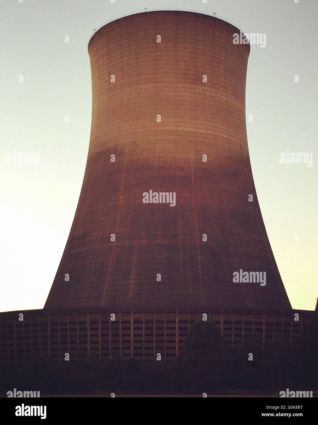 Nuclear reactor cooling tower - Stock Image