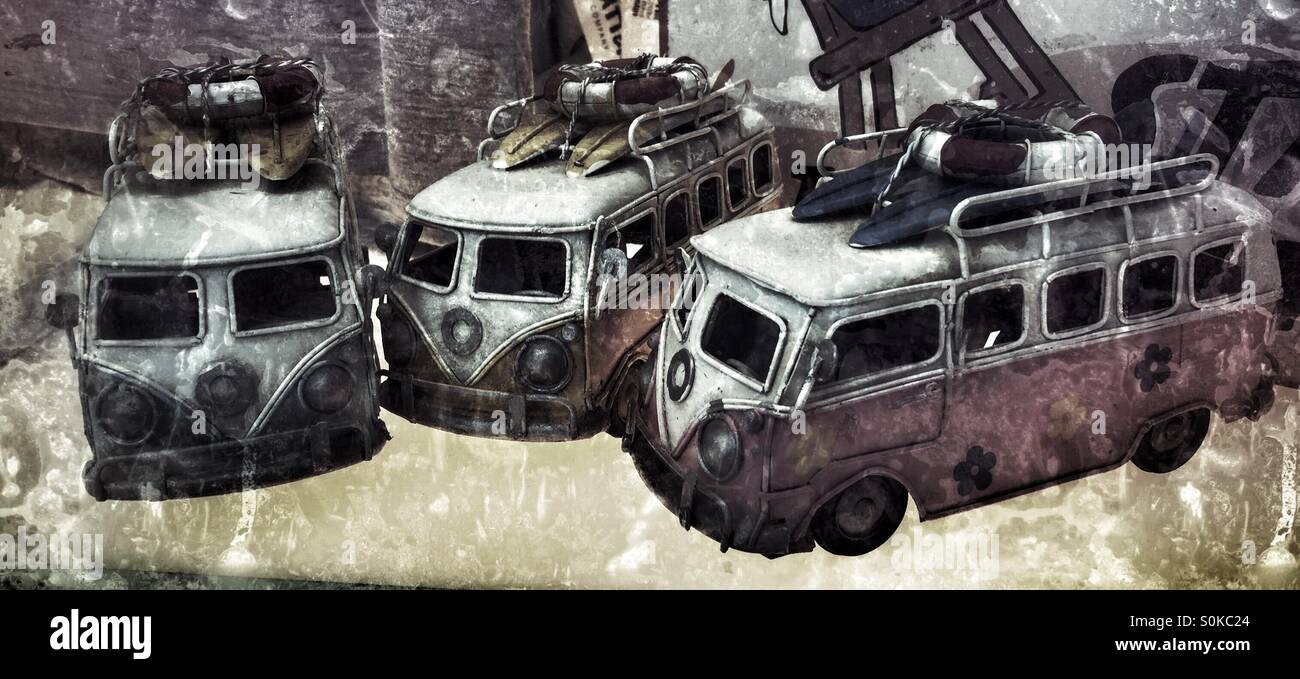 VW bus toys - Stock Image