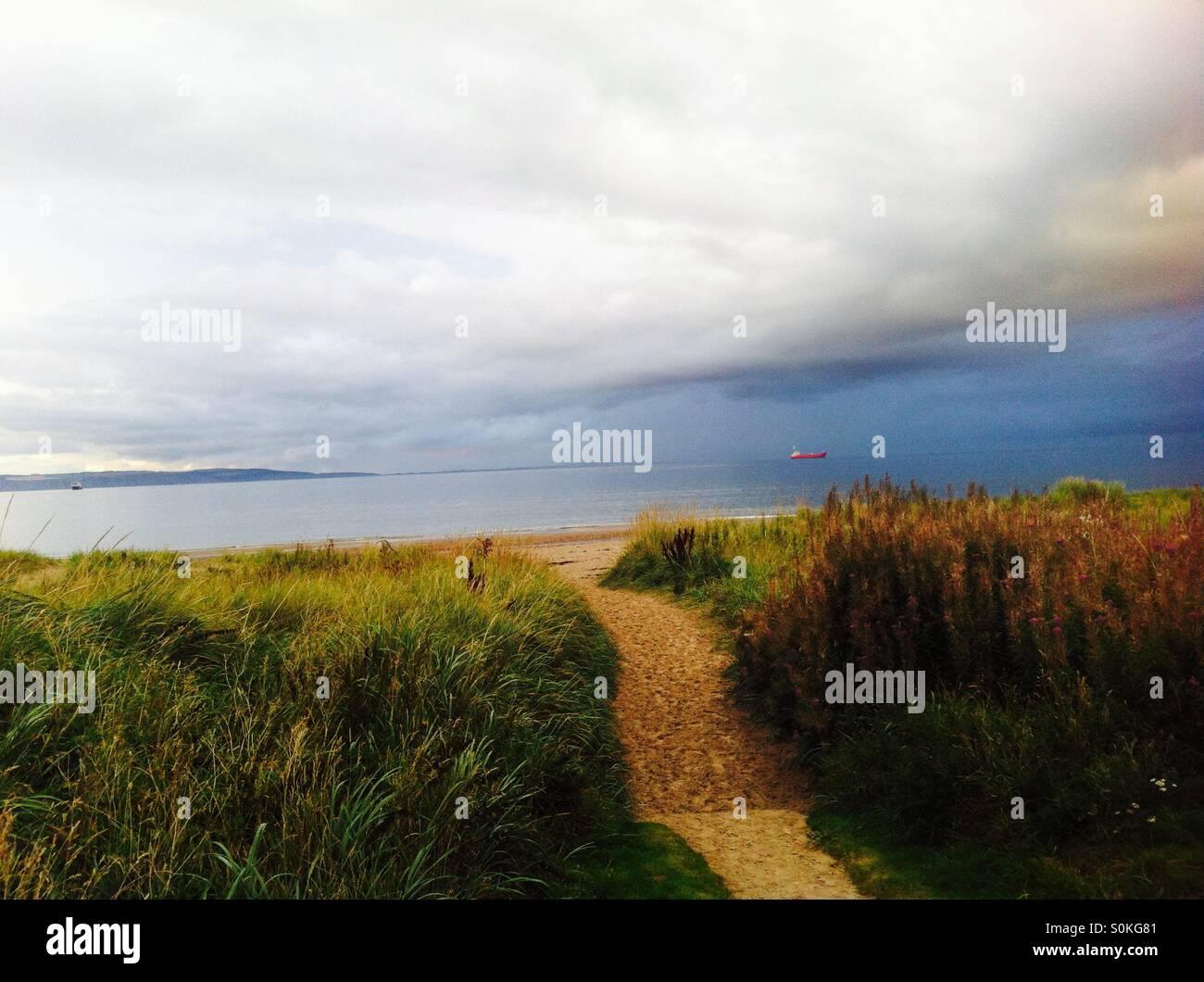 Nairn Beach - Stock Image