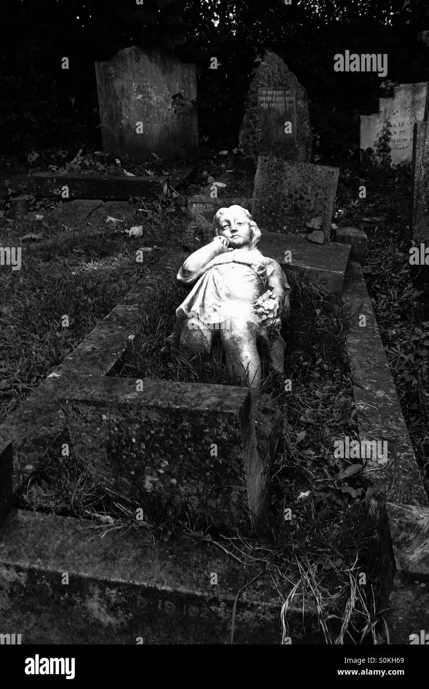 Fallen angel - Stock Image