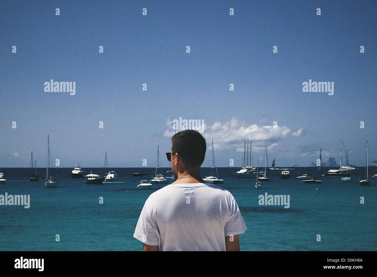 Dreaming about a Boat. - Stock Image