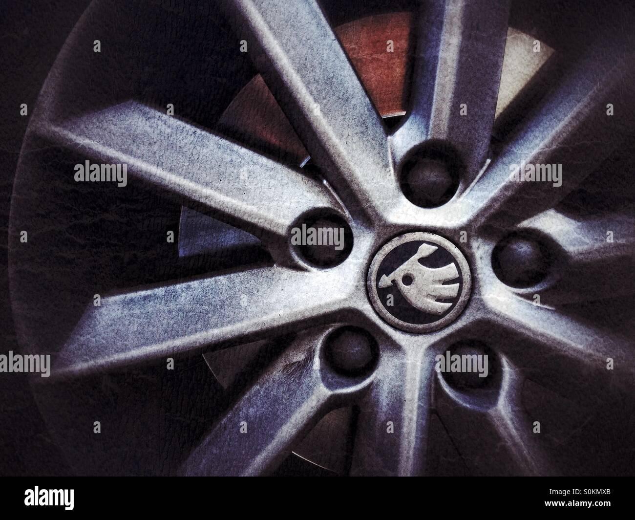 Skoda wheel - Stock Image
