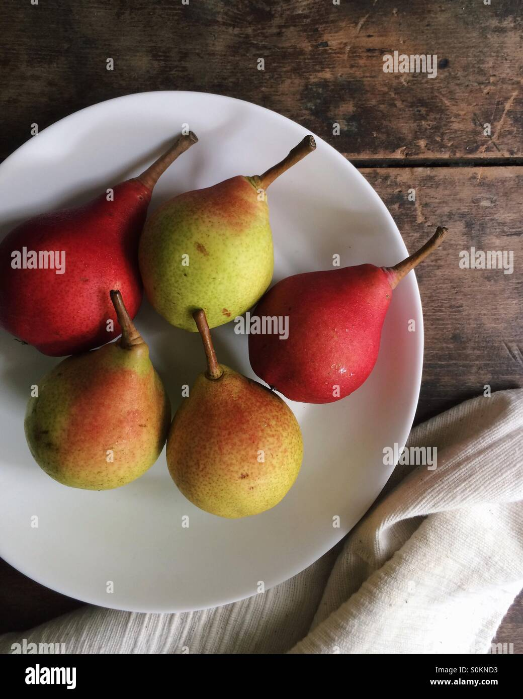 Fall pears. - Stock Image