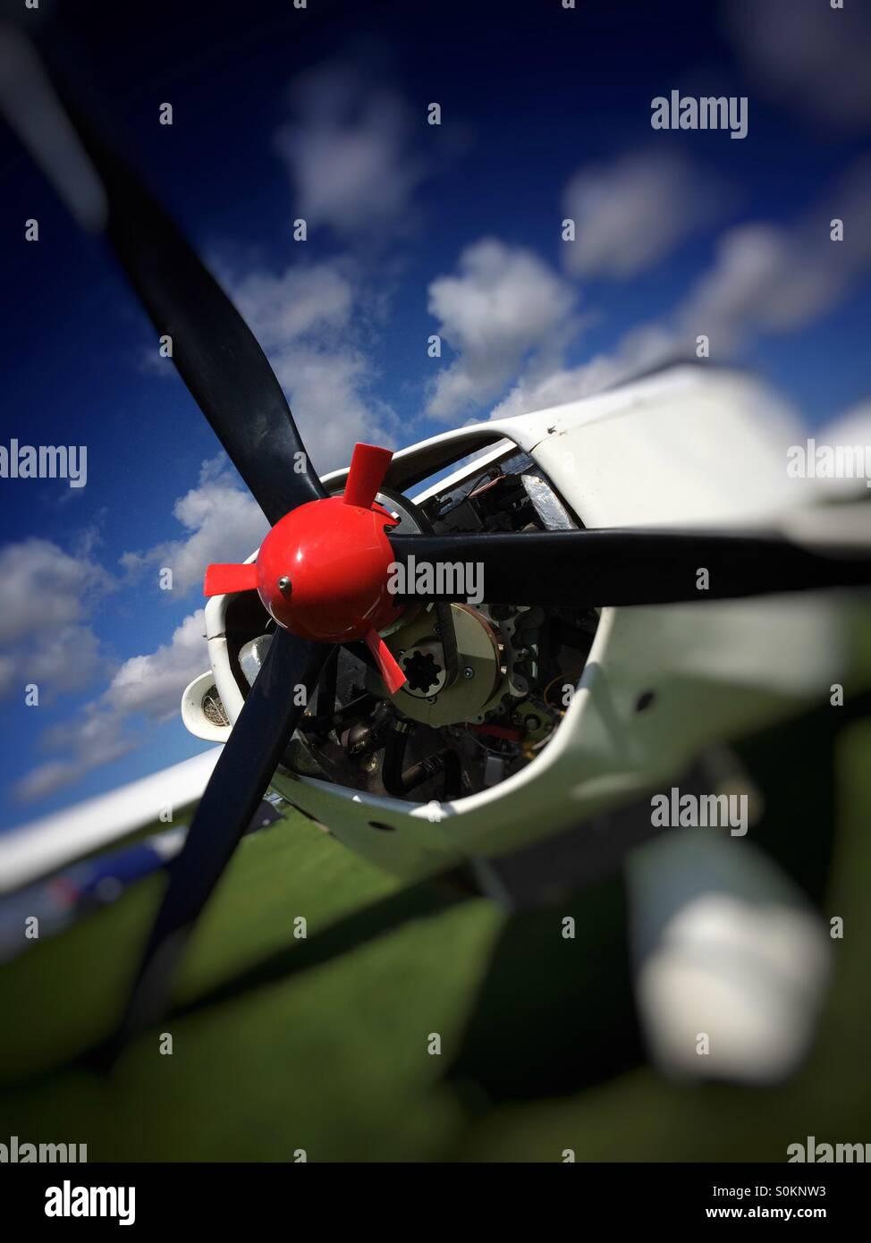 Aircraft propeller - Stock Image