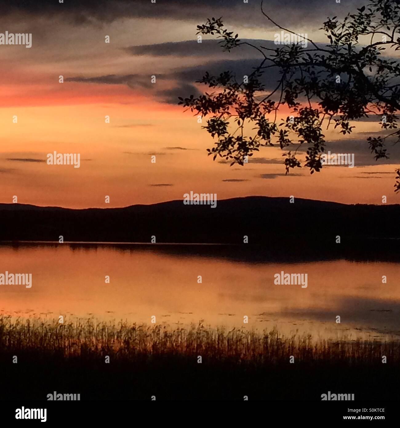 Lake Lilla Aspan in Vassbo, Dalarna, Sweden - Stock Image