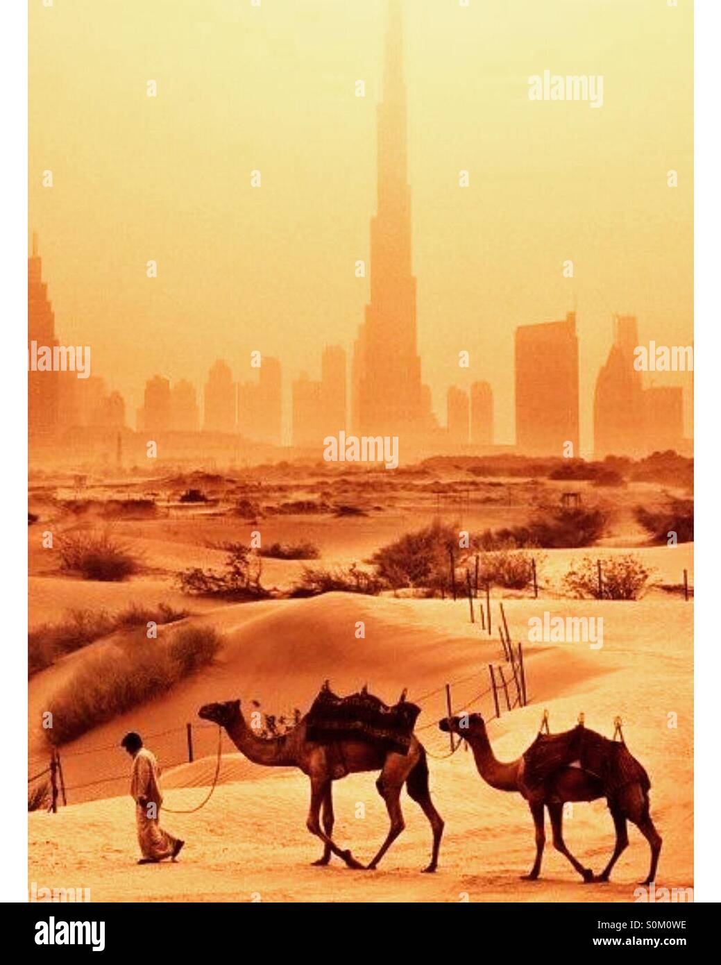 The evolution of dubai - Stock Image