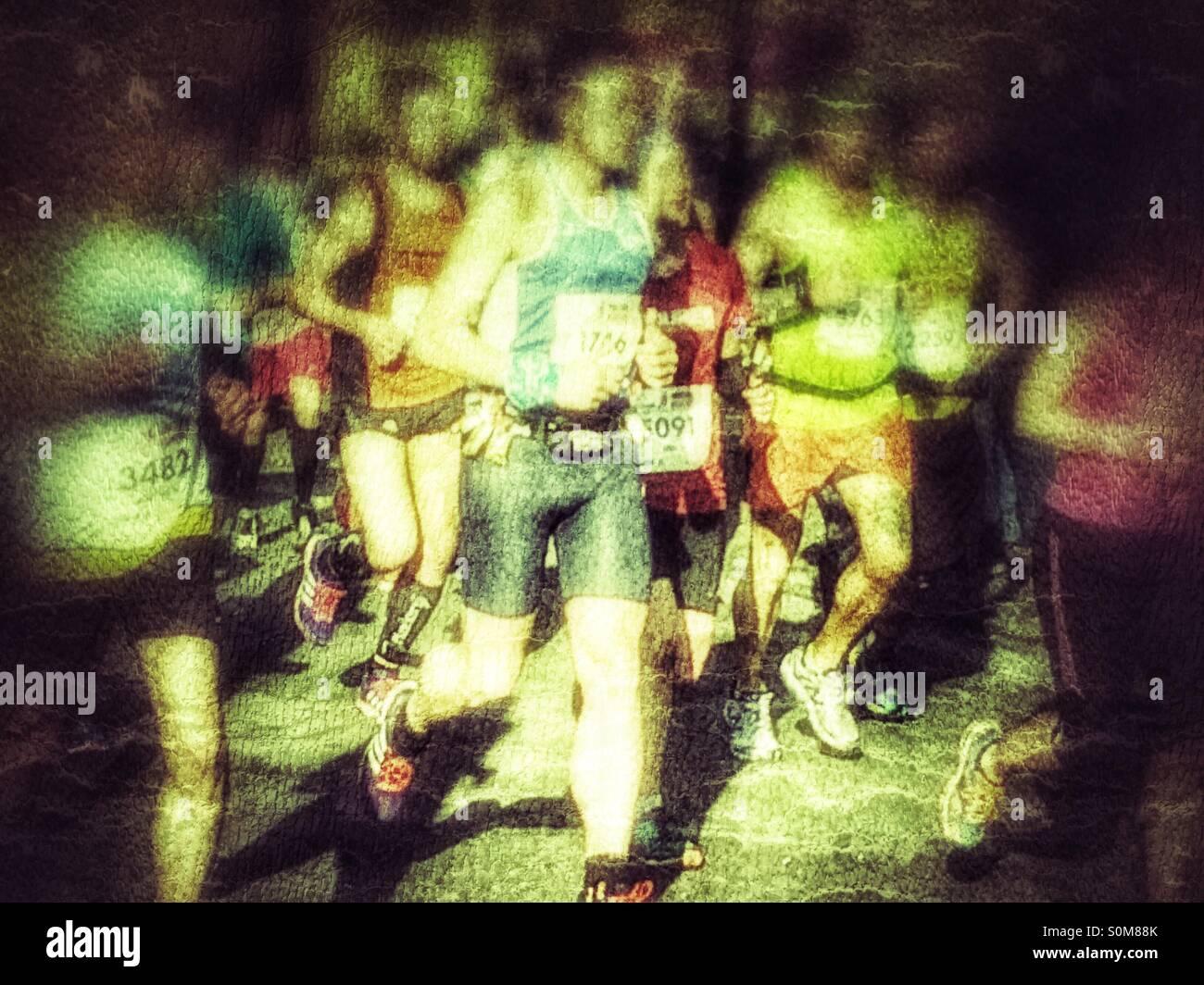 Marathon runners UK - Stock Image