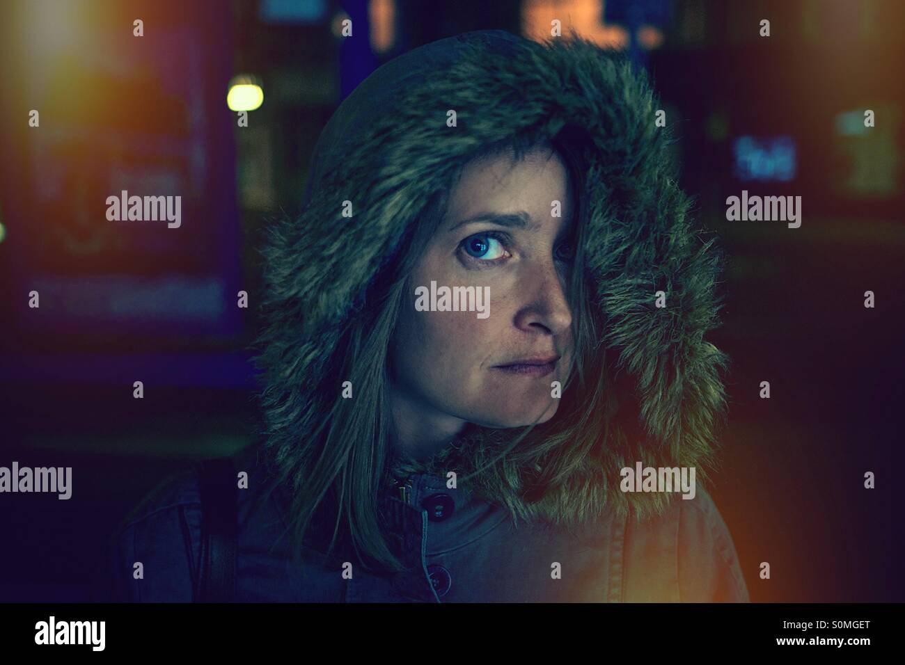 The Stare. - Stock Image