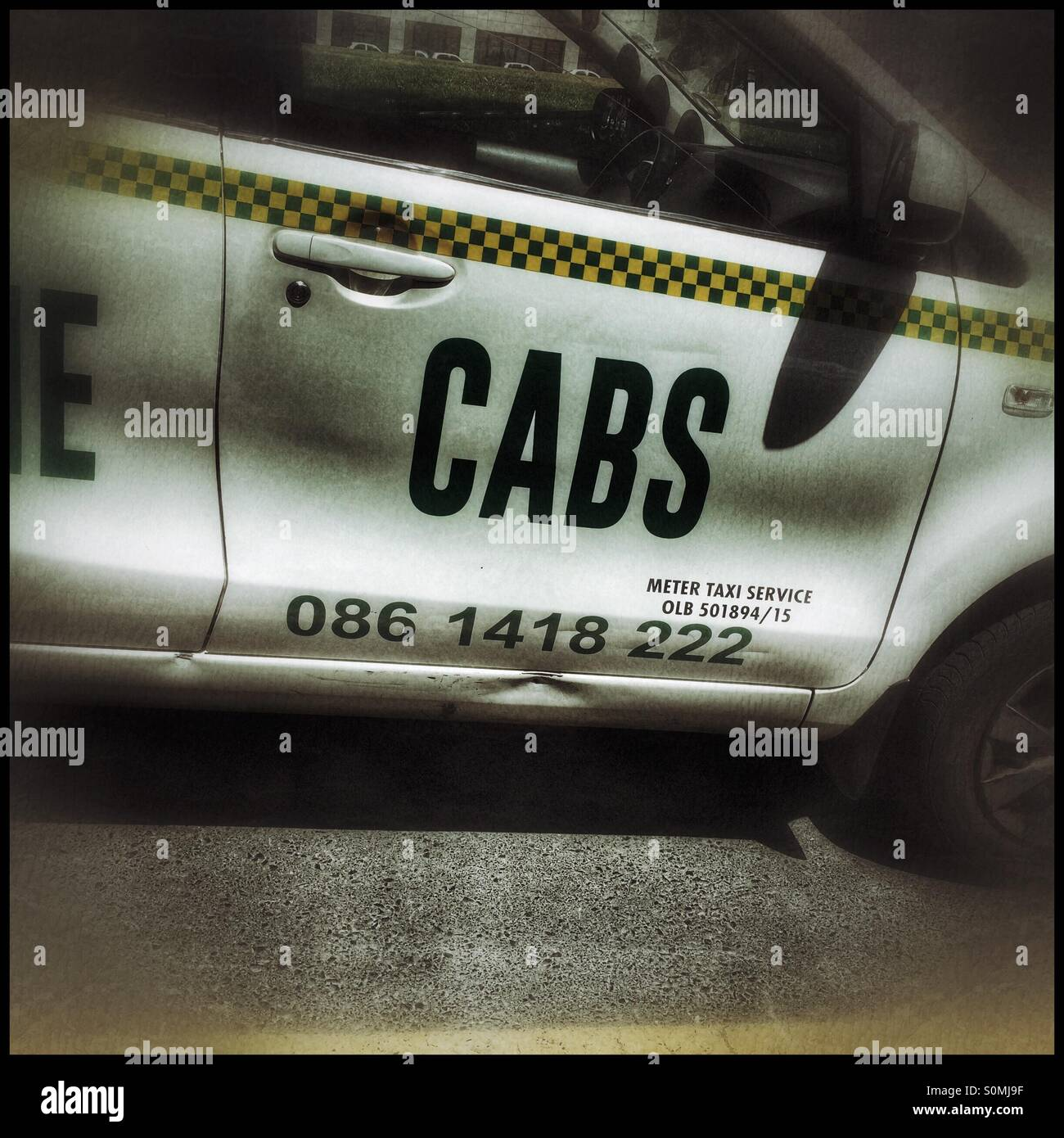 Meter taxi, Cape Town. - Stock Image