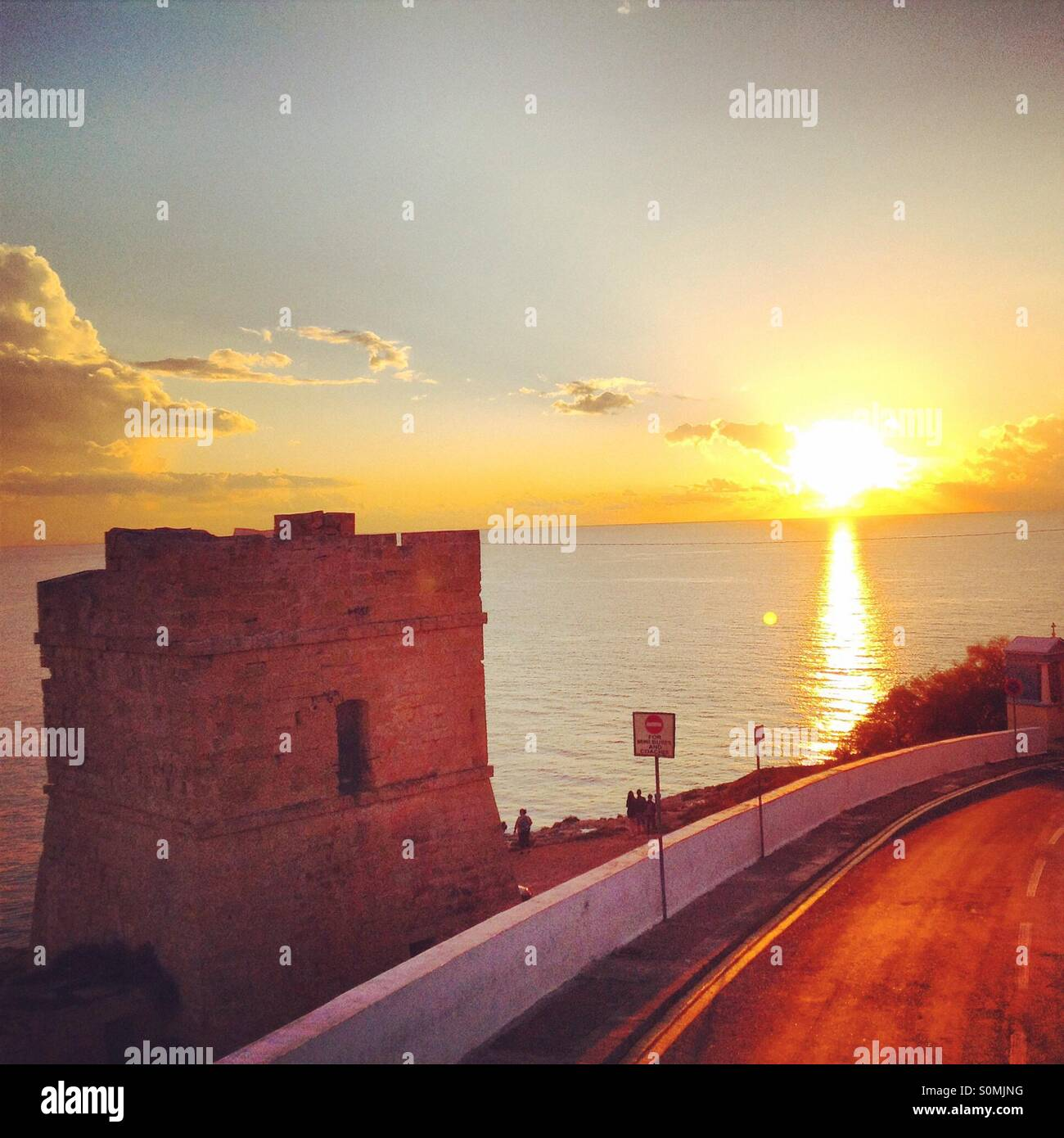 Sunset in Malta - Stock Image