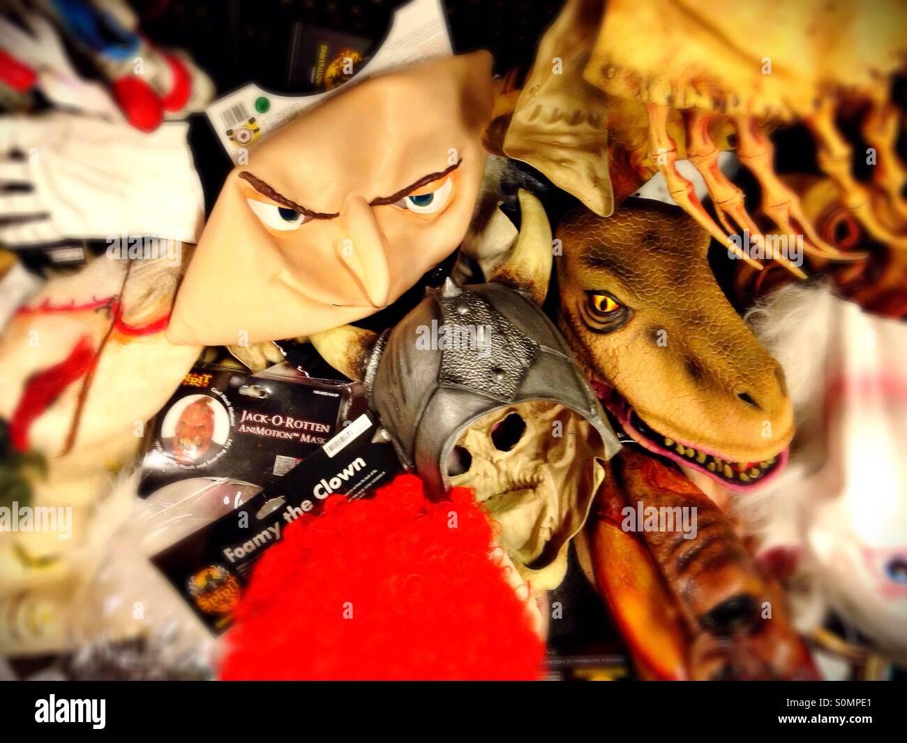 halloween masks stock photos & halloween masks stock images - alamy