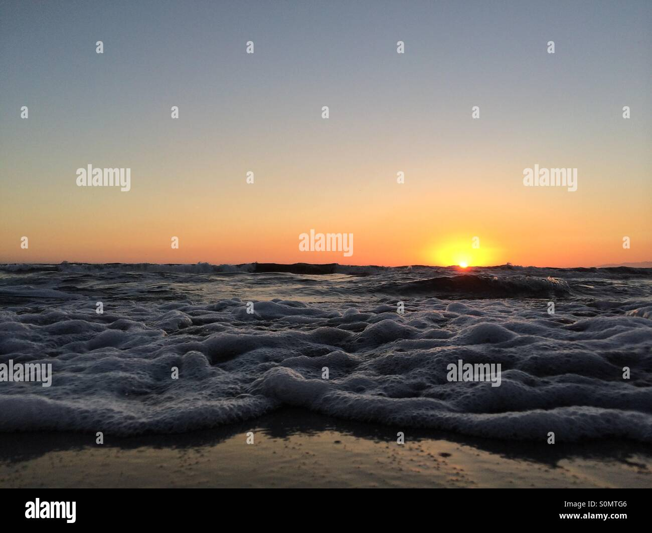 Suds at Dockweiler Beach - Stock Image