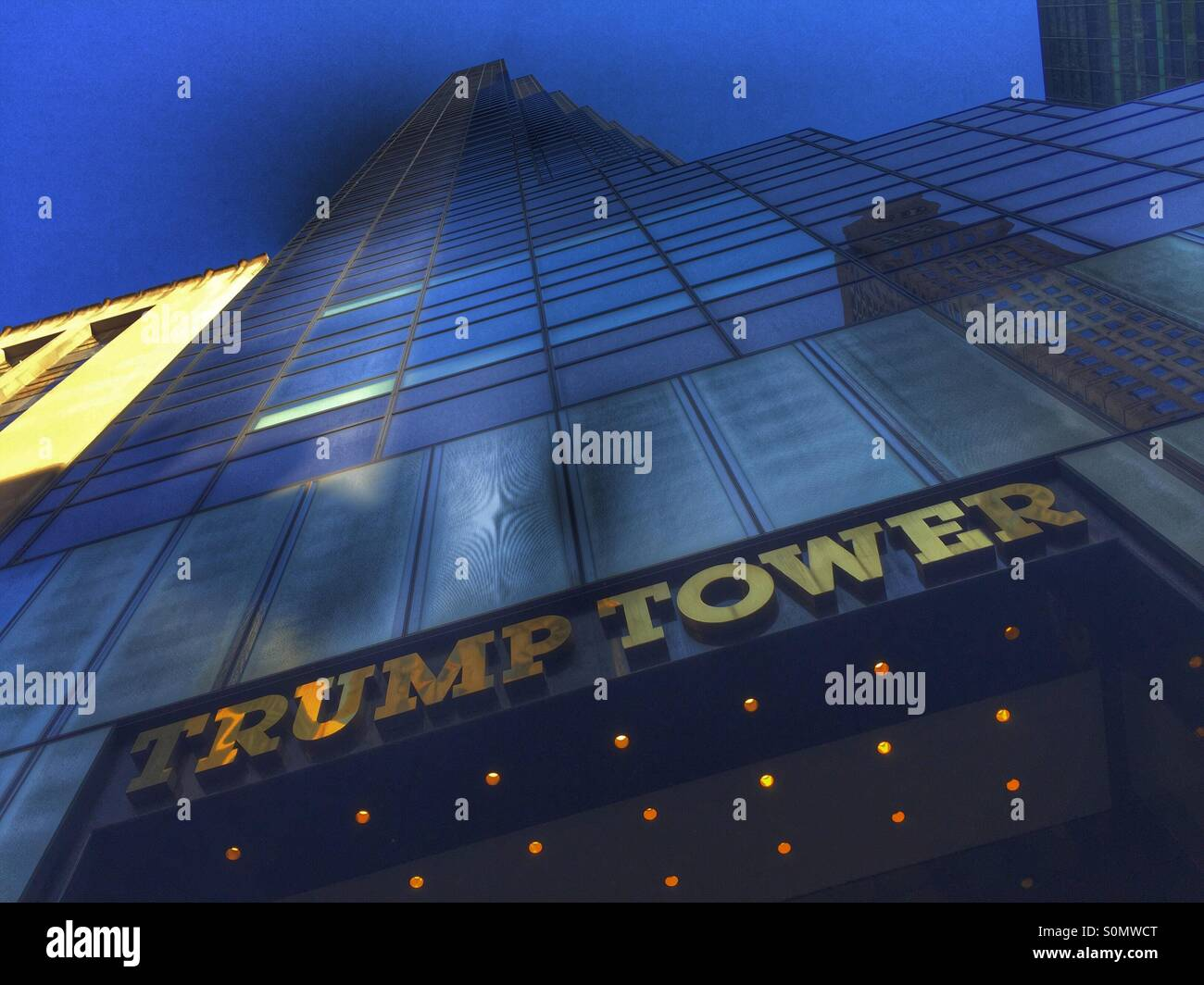 Trump tower - Stock Image