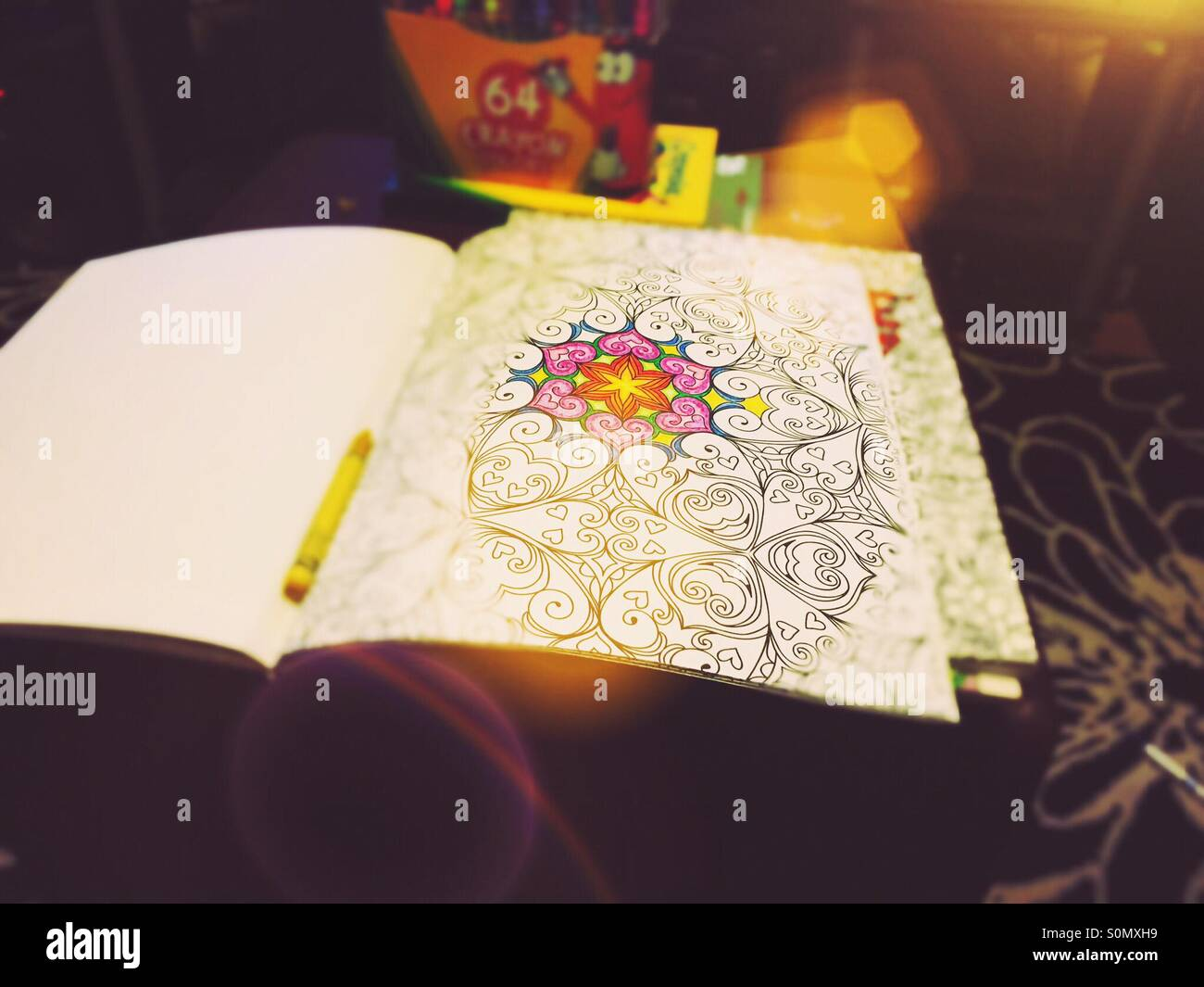Coloring Book Crayons Stock Photos & Coloring Book Crayons Stock ...