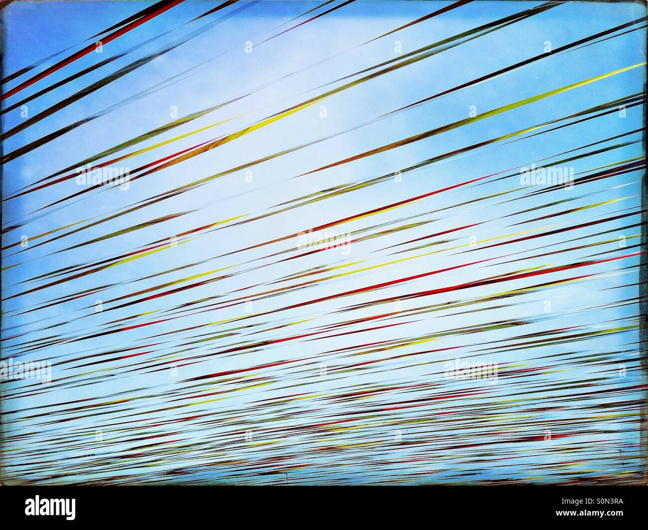 Festival streamers at a carnival - Stock Image