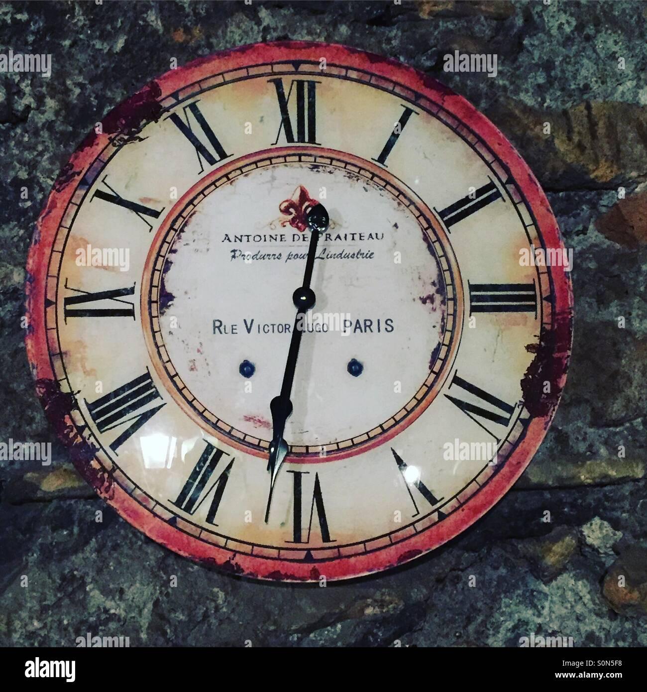 Antique clock - Stock Image