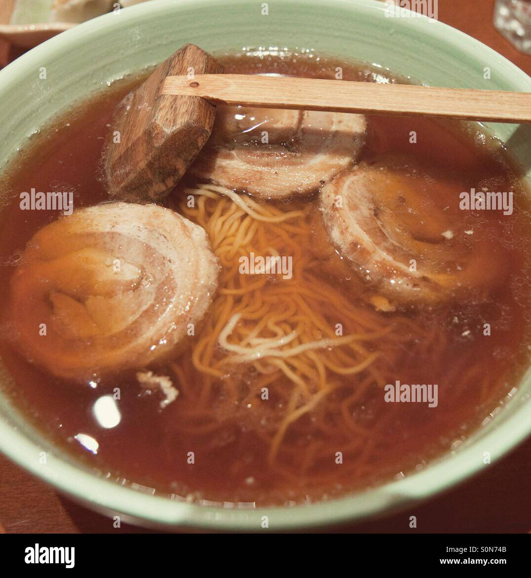 bowl of ramen (japanese food) - Stock Image