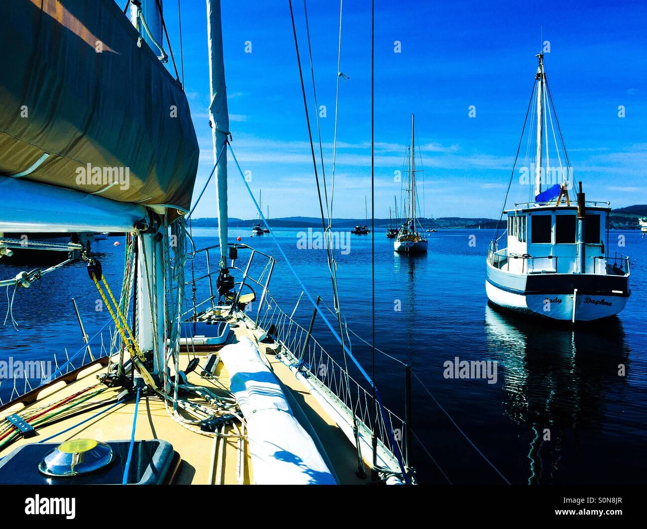 Heading out of the Bay - Stock Image