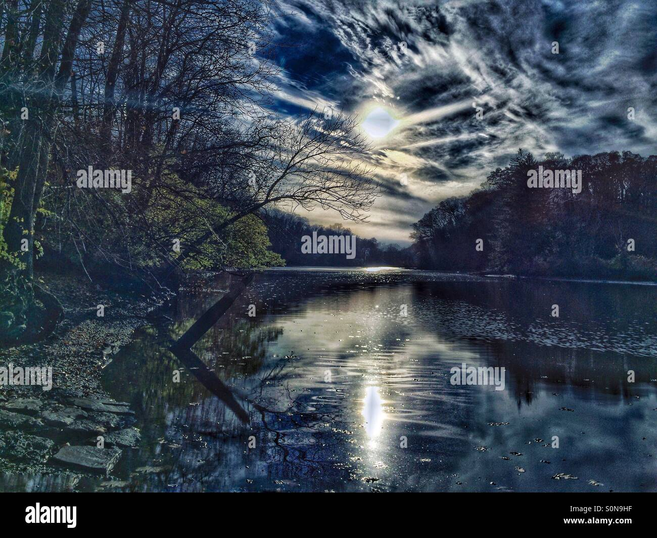 An otherworldly lake - Stock Image