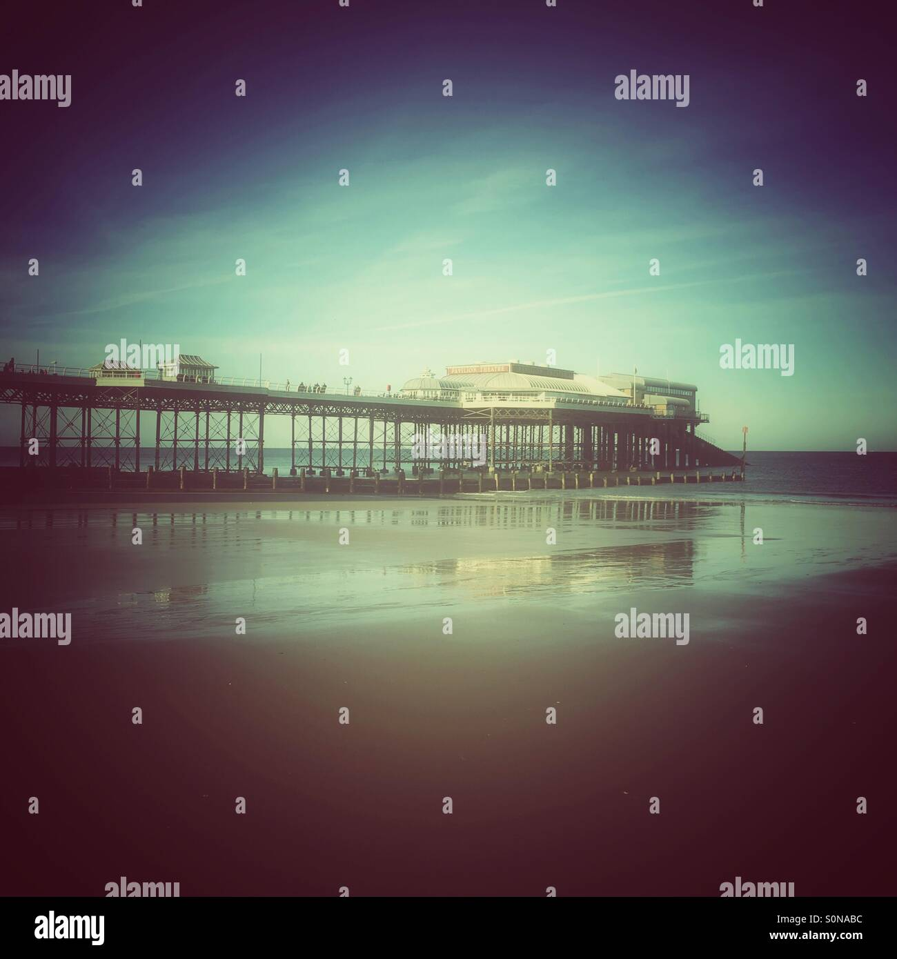 A view of Cromer pier,Norfolk,England - Stock Image