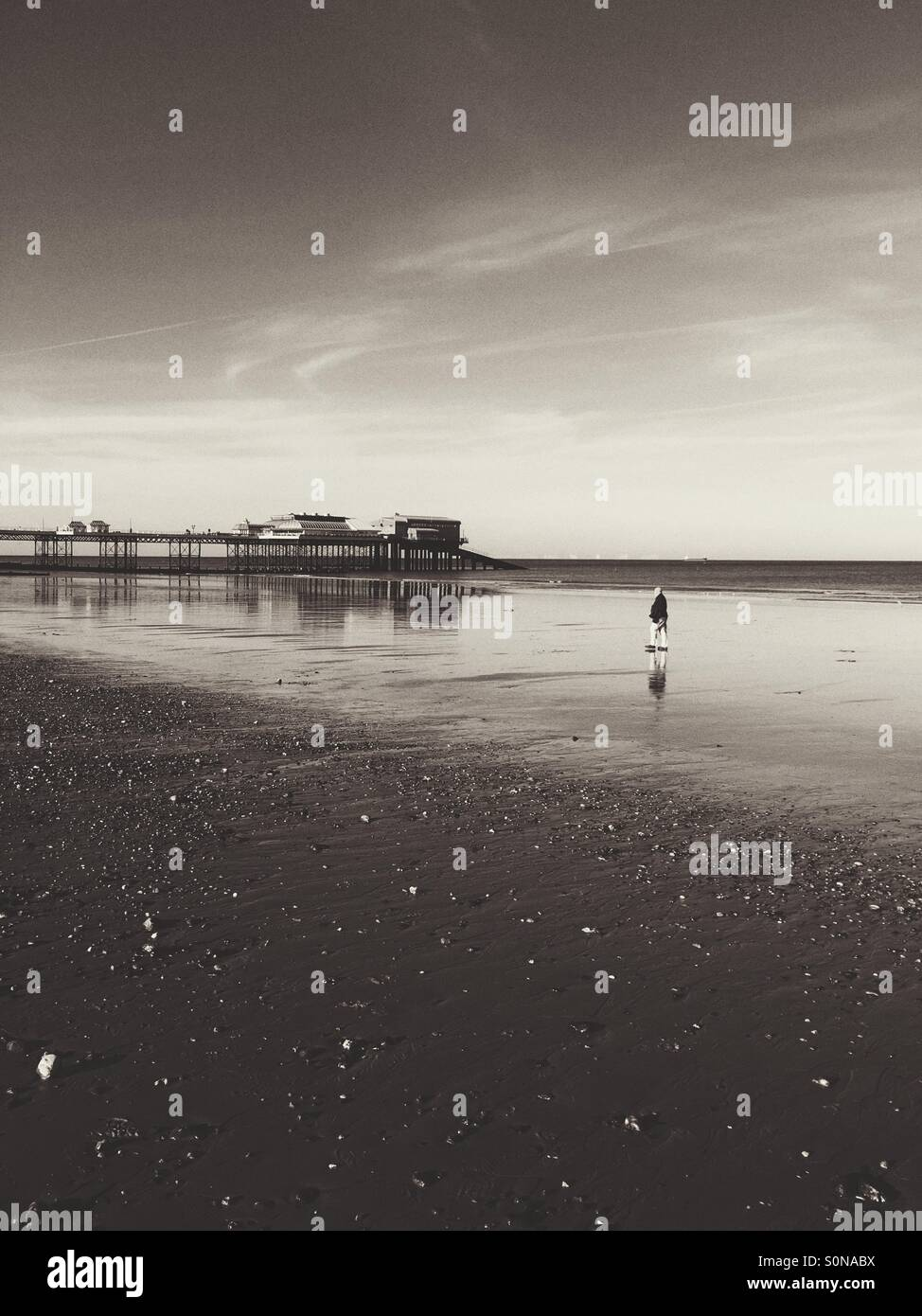 A scene from Cromer in Norfolk,England - Stock Image