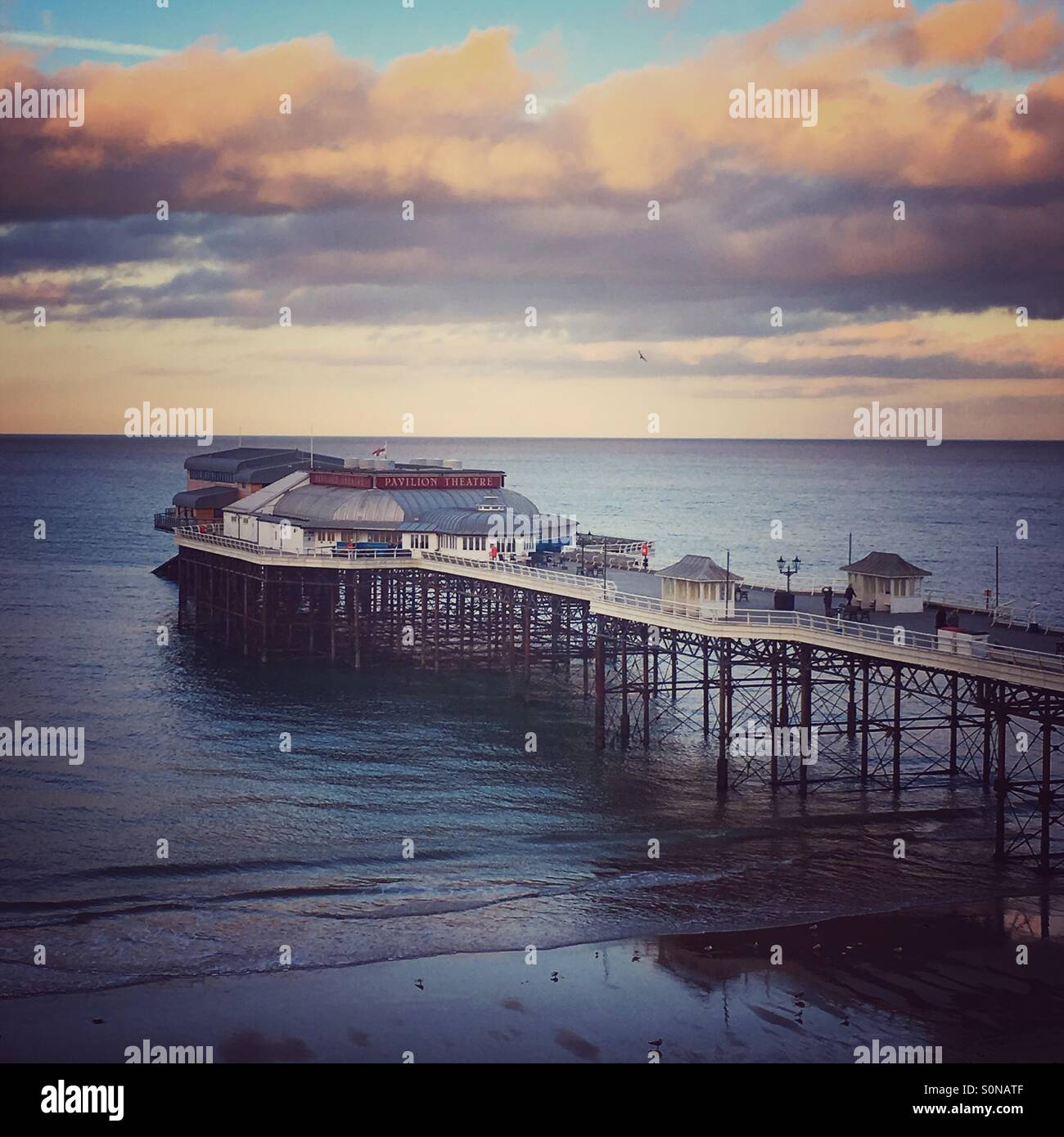 A view of Cromer Pier in Norfolk - Stock Image