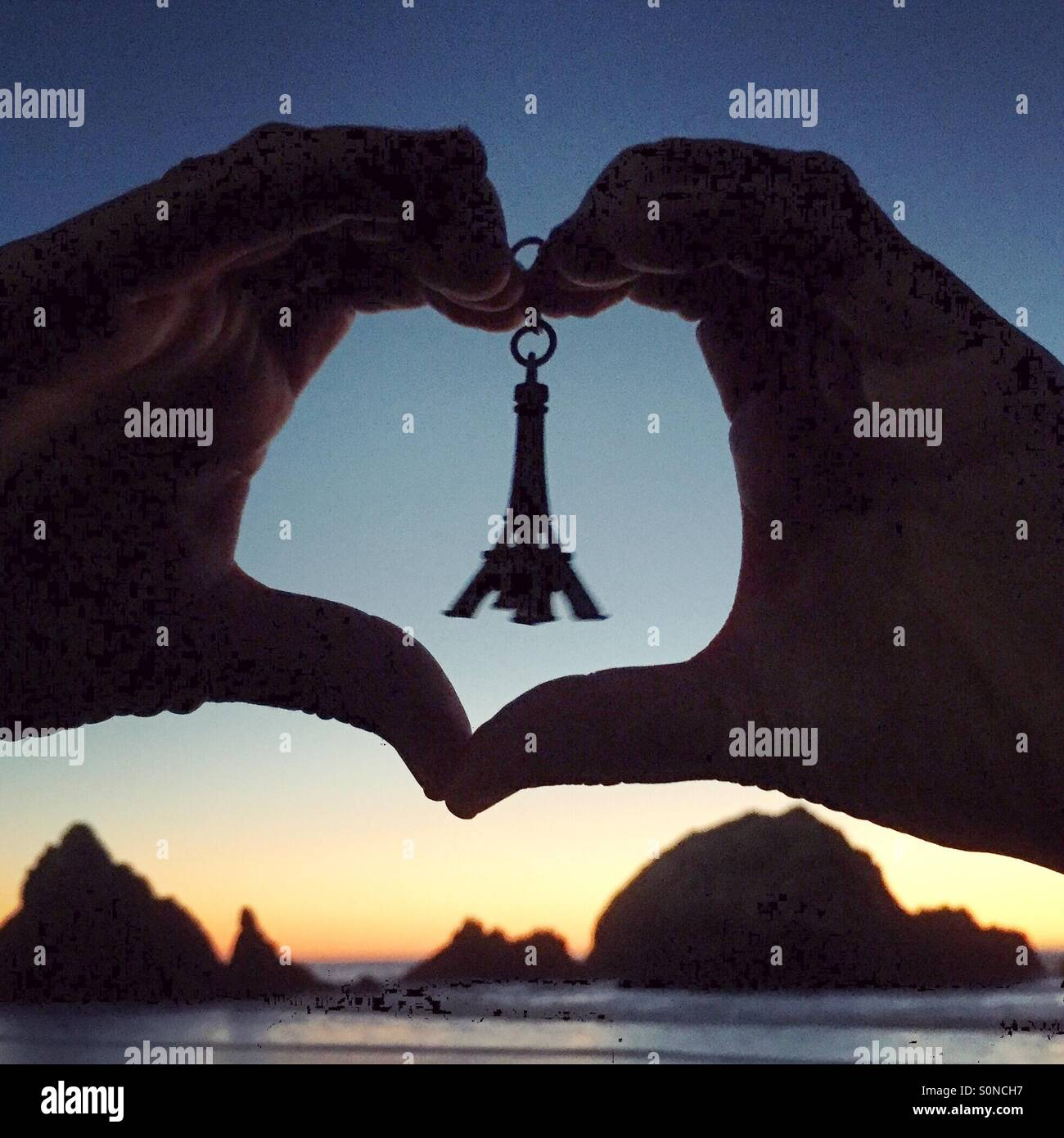 Hearts with Paris ❤️ - Stock Image