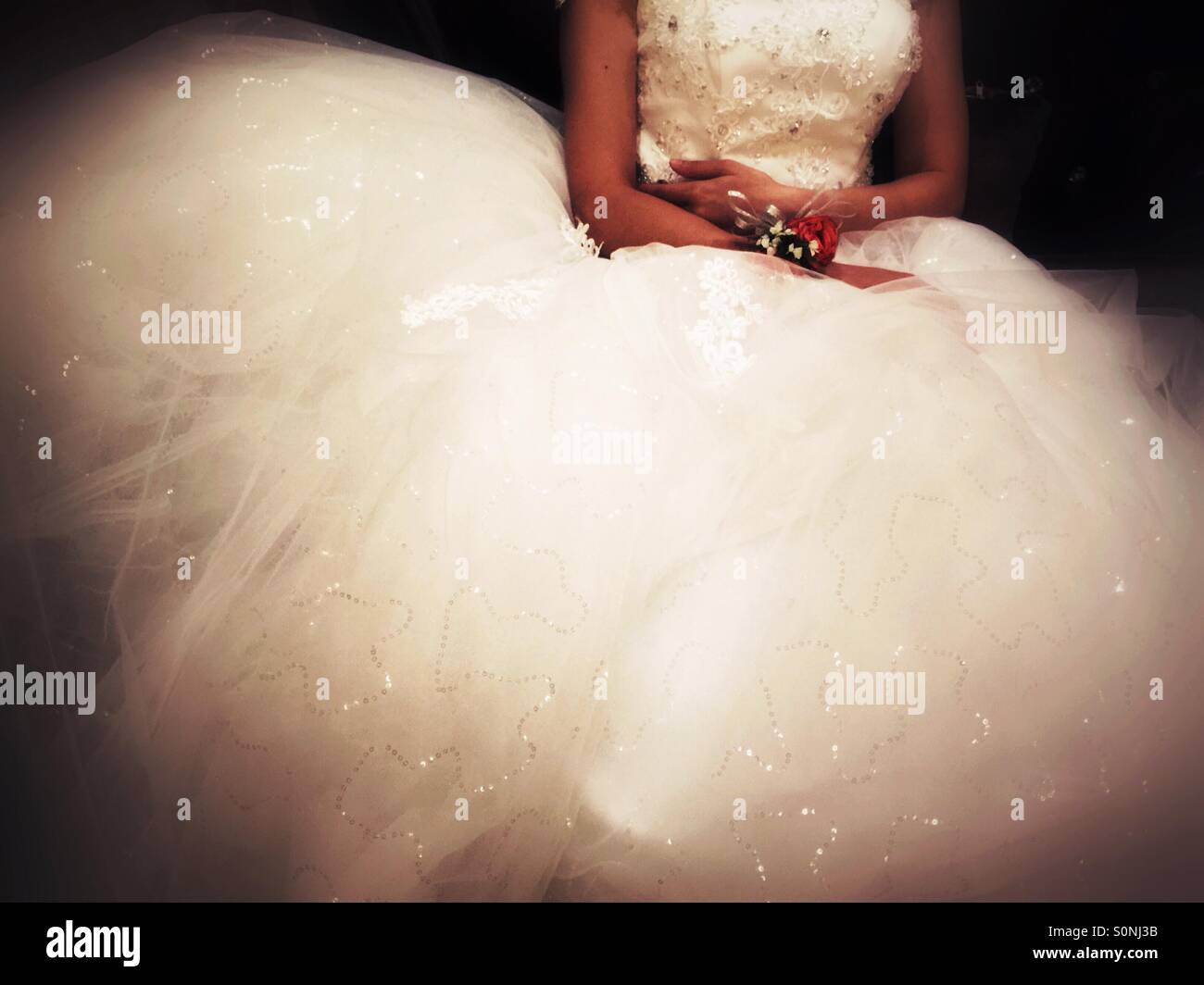 Bride wedding dress - Stock Image