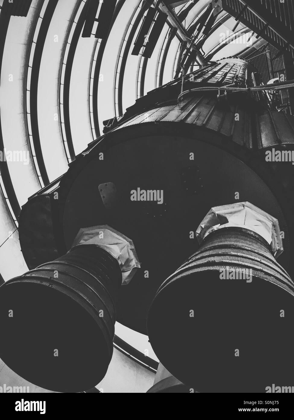 Rocket boosters - Stock Image