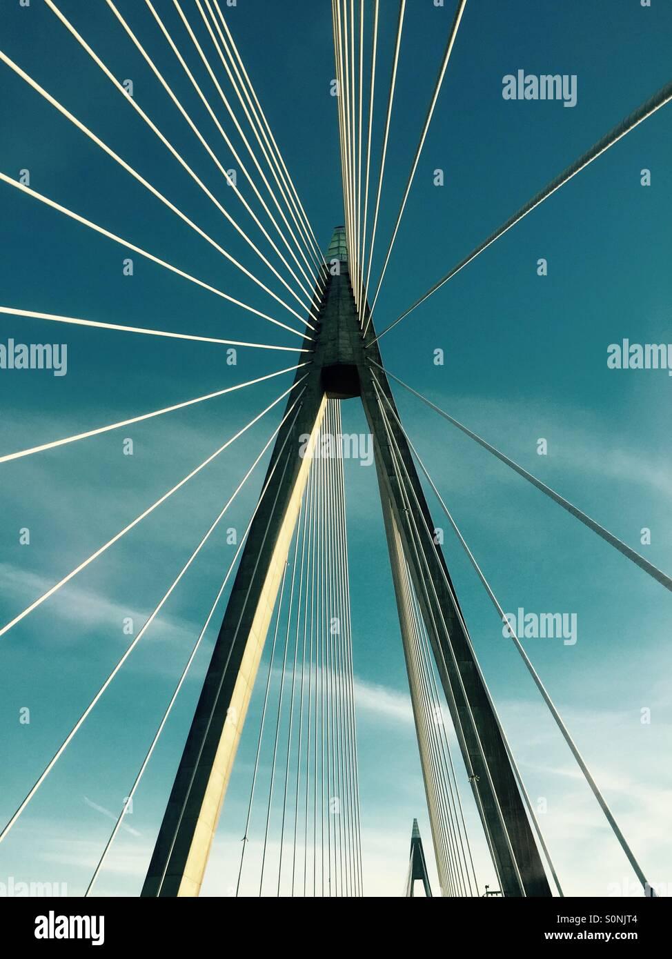 On a bridge near Uddevalla, Sweden - Stock Image