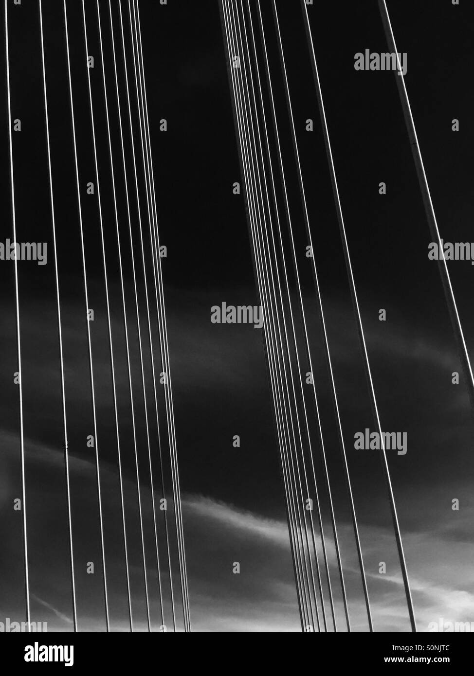 Bridge cables - Stock Image