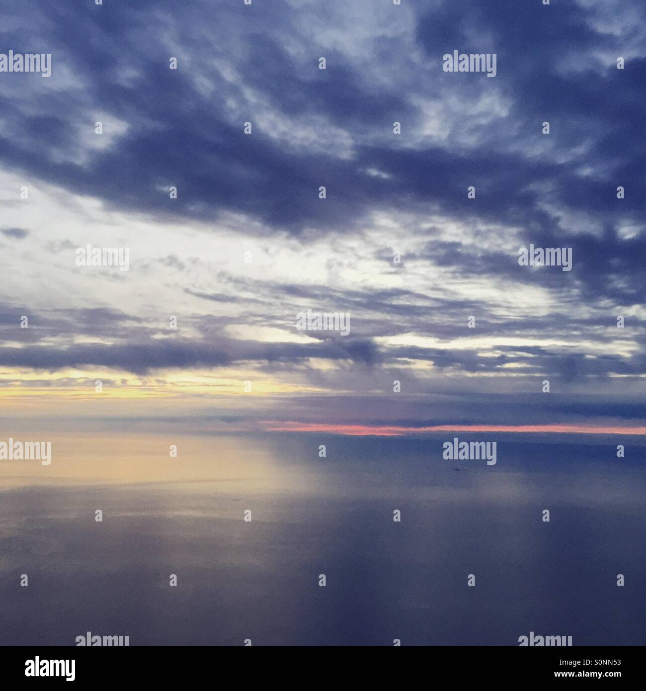 Aerial skyscape - Stock Image