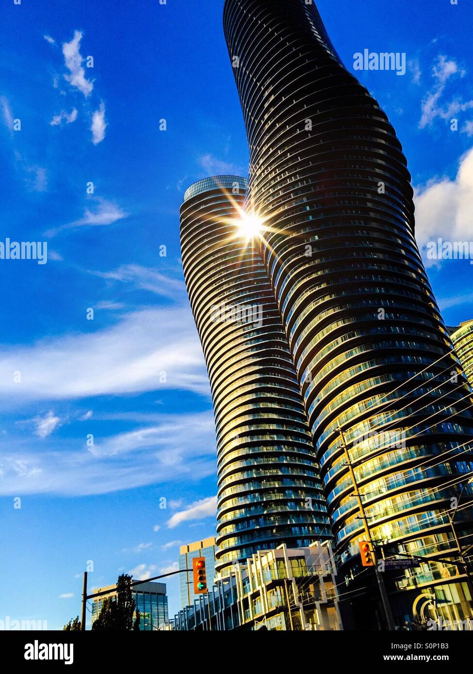 Modernity with a flare - Stock Image
