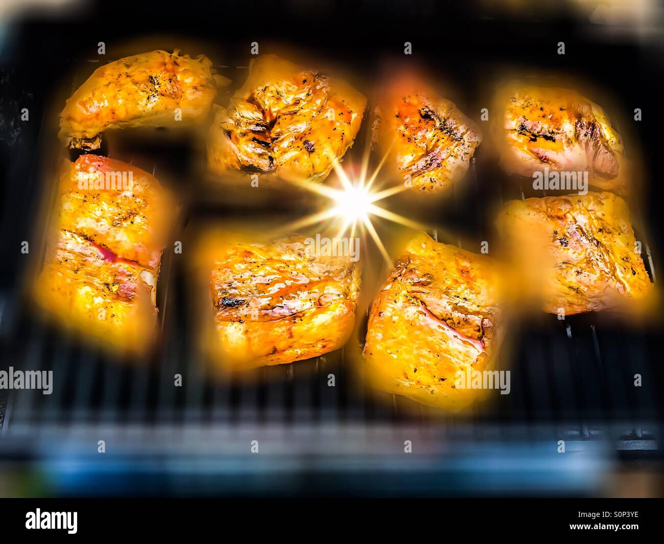 Barbecue spark - Stock Image