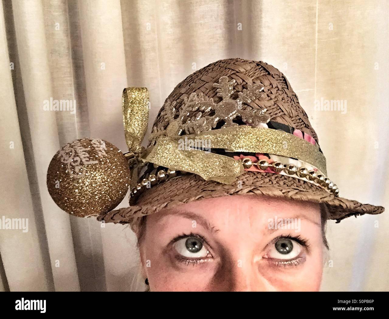 Christmas hat - Stock Image