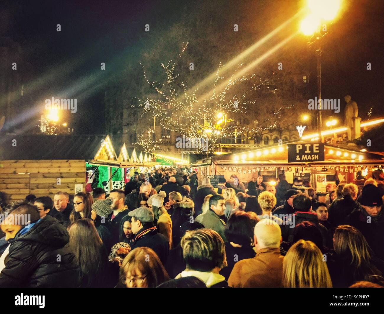 Manchester Christmas market Stock Photo