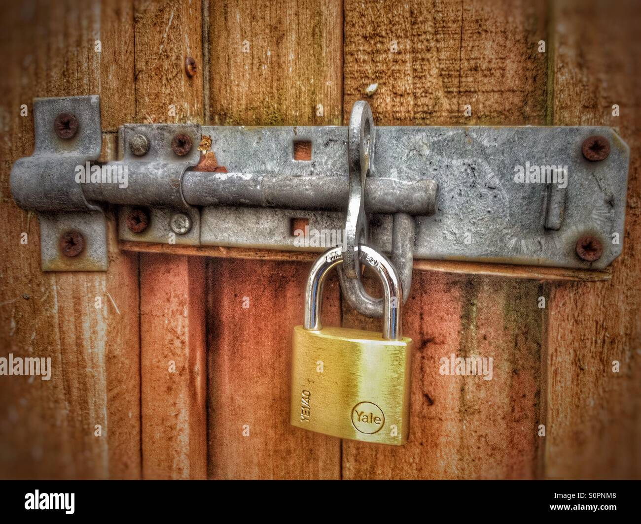A padlocked hate. - Stock Image