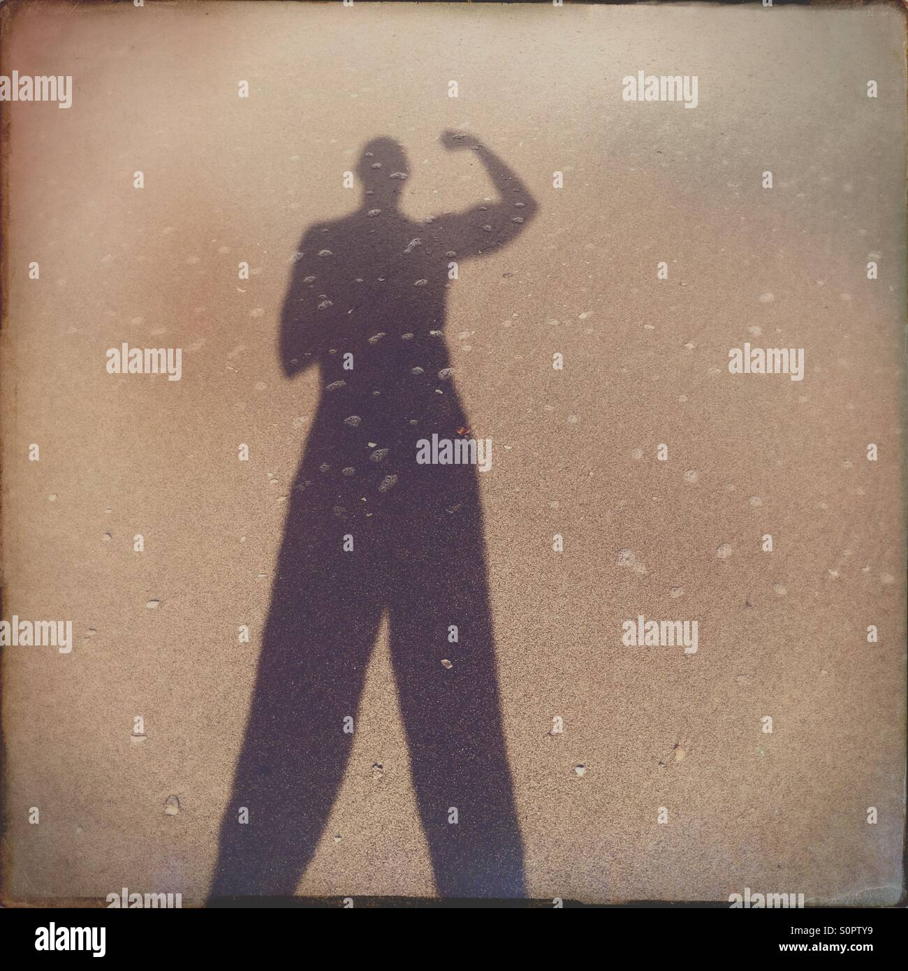 Shadow of a man - Stock Image