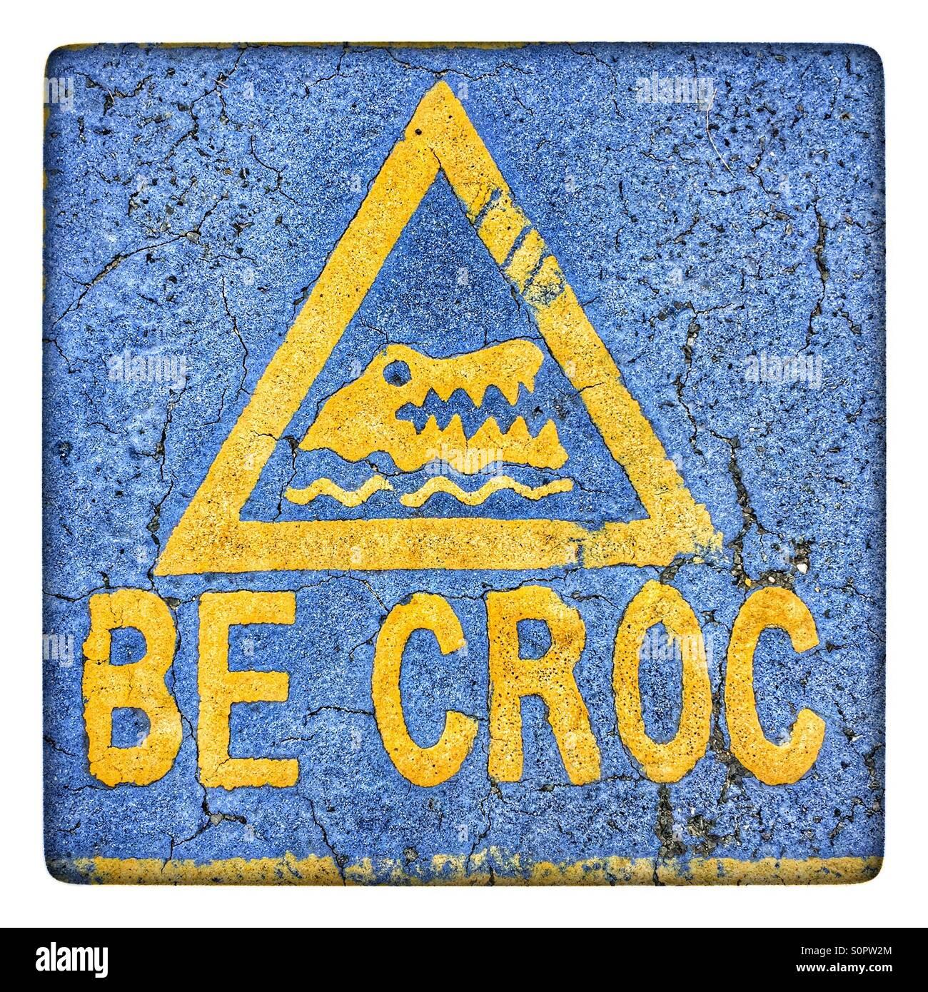 Be Croc - Stock Image