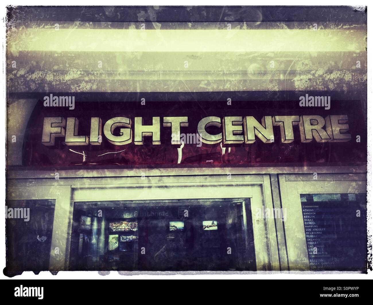 Flight centre travel agency . - Stock Image