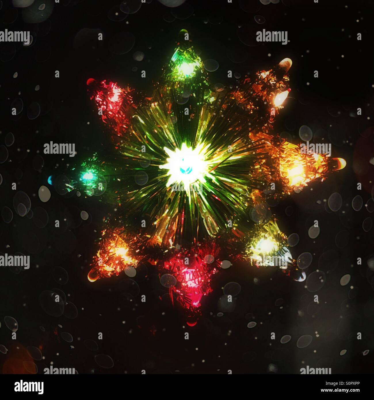 vintage star christmas tree topper stock image - Vintage Christmas Tree Toppers